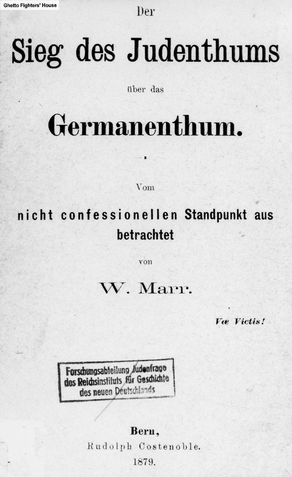 the very title of wilhelm marrs 1879 treatise - What Is A Problem Solution Essay