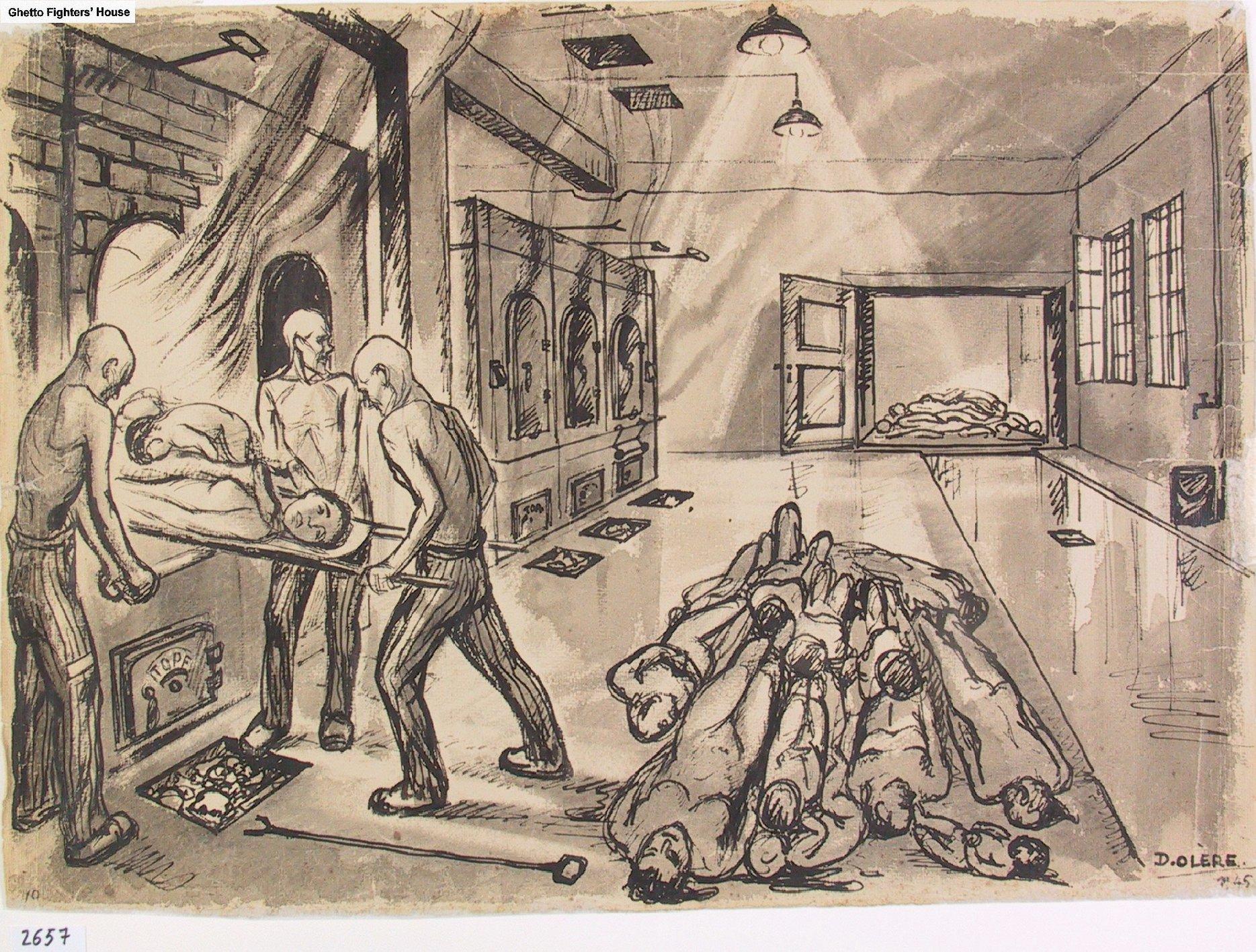 Olere Crematorium During The Holocaust